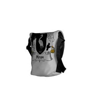 Heron Family Crest Messenger Bags