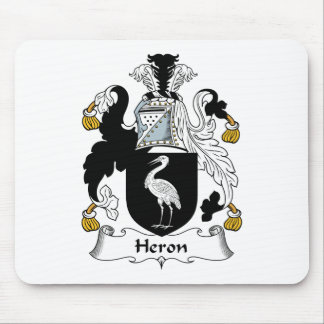 Heron Family Crest Mouse Pad