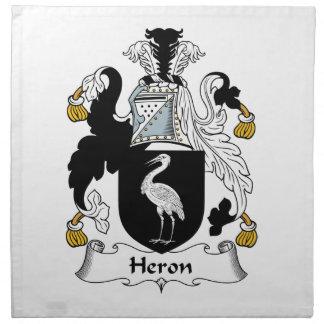 Heron Family Crest Napkins