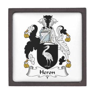 Heron Family Crest Premium Trinket Boxes