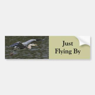 Heron Fly Past Car Bumper Sticker