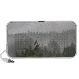 Heron in a Misty Mountain Landscape Speaker