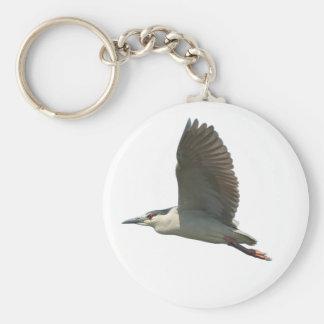 Heron in Flight 2 Keychain