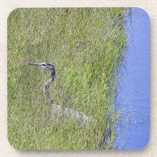 Heron in Grasses Cork Coaster
