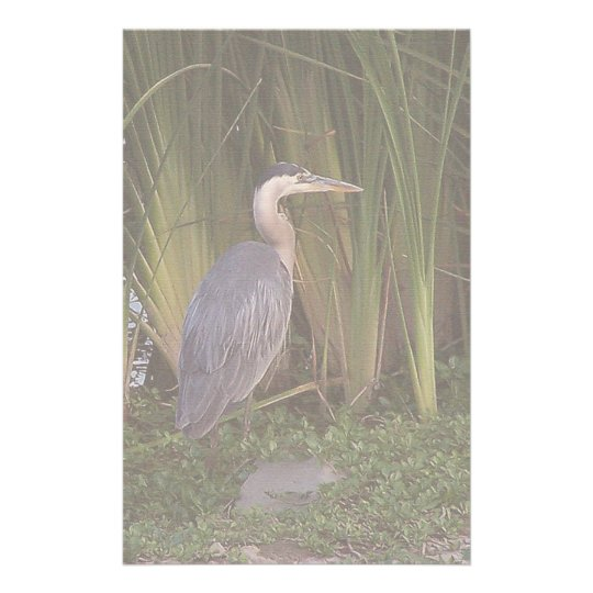 Heron in Reeds Stationery