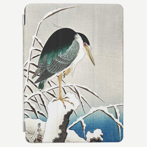 Heron in Snow, fine art by Ohara Koson, iPad Air Cover