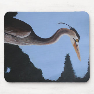 Heron in the Blue Mouse Pad