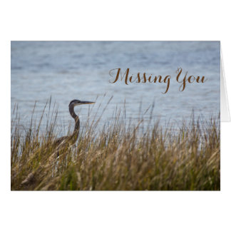 Heron in the Bulrushes Card