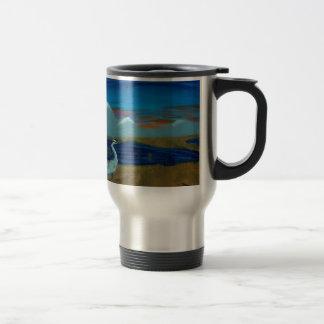 Heron in the Marsh Travel Mug