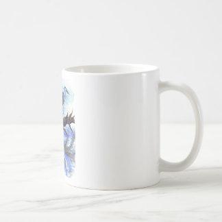 Heron Meditating - Watercolor Pencil Coffee Mug