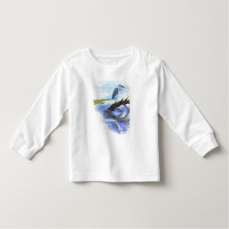 Heron Meditating - Watercolor Pencil Toddler T-shirt