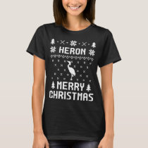 HERON Merry christmas Sweaters T-shirt