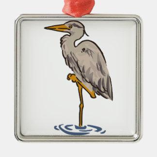 Heron Metal Ornament