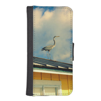 Heron on a Roof iPhone SE/5/5s Wallet Case