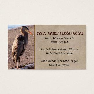 Heron On Dock Business Card