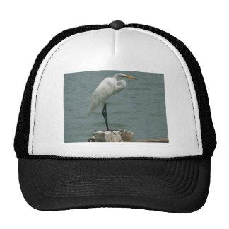 Heron on Piling Trucker Hat