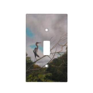 HERON ON SILVER RIVER Light Switch Cover