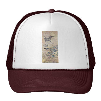 Heron Over A Mallow By Goshun Matsumura Best Qual Mesh Hats
