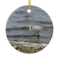 Heron Photo Ceramic Ornament