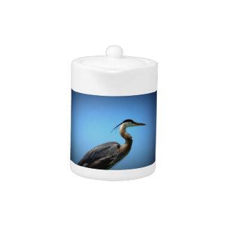 Heron Posed Teapot