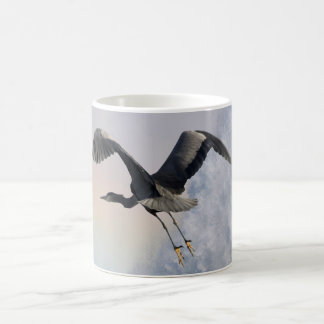 Heron, Rainbow & Waterfall Fantasy Art Mug