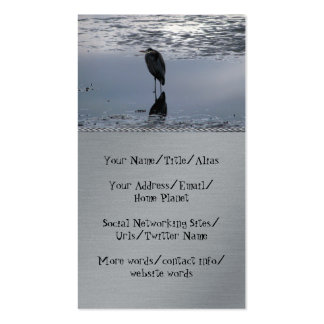 Heron Reflected Business Card