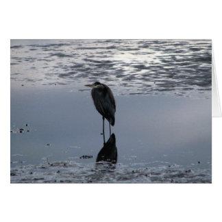 Heron Reflected Card