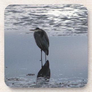 Heron Reflected Coaster