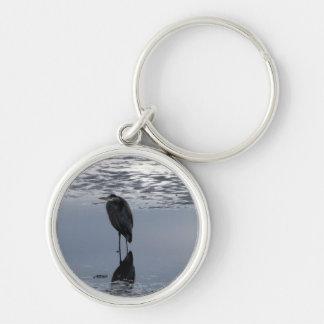 Heron Reflected Keychains