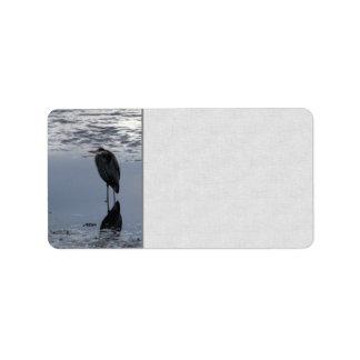 Heron Reflected Label