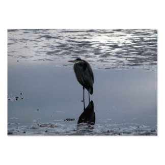 Heron Reflected Large Business Card