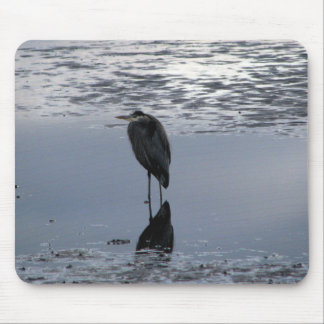 Heron Reflected Mouse Pad