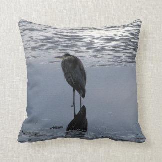 Heron Reflected Pillow