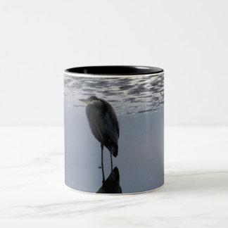 Heron Reflected Two-Tone Coffee Mug