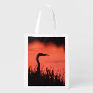 heron reusable grocery bag