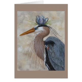 Heron Royalty greeting card