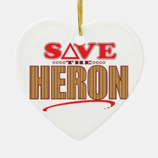 Heron Save Ceramic Ornament
