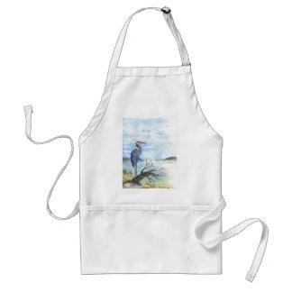 Heron Sentry - Watercolor Pencil Adult Apron