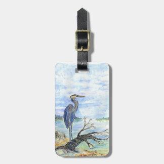Heron Sentry - Watercolor Pencil Bag Tag