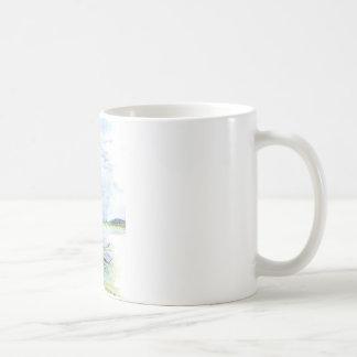 Heron Sentry - Watercolor Pencil Coffee Mug