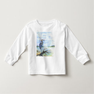 Heron Sentry - Watercolor Pencil Toddler T-shirt