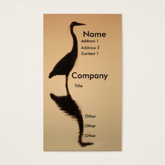 Heron Silhouette Business Card