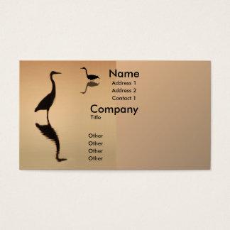 Heron Silhouette Business Card