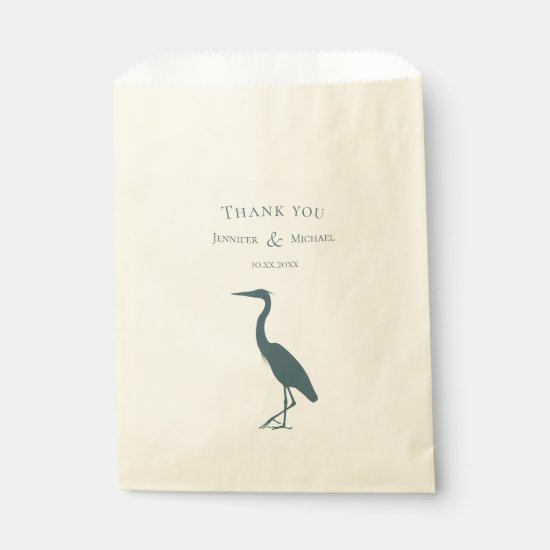 heron silhouette dark teal blue simple favor bag