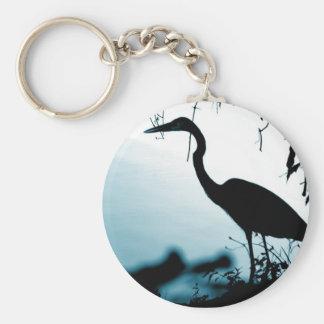 Heron Silhouette Keychain