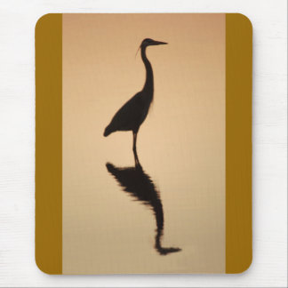 Heron Silhouette Mouse Pad