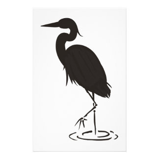 Heron Silhouette Stationery