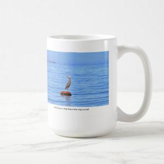 Heron Singing on the Ocean Classic White Coffee Mug