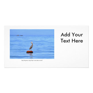 Heron Singing on the Ocean Picture Card