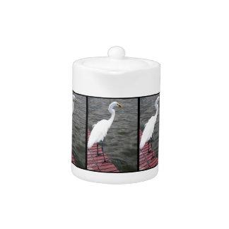 Heron Snacking Teapot